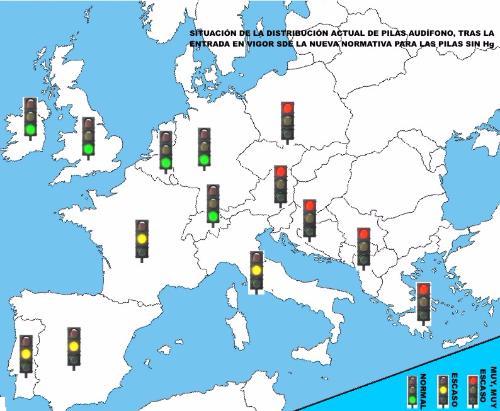 Nueva normativa Hg: suministros Pilas Audífonos en Europa